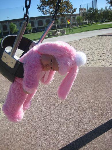 I've got the pink bunny Monday blues.