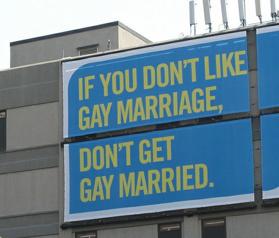 Don't like gay marriage? Don't get gay married.