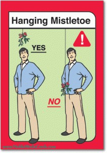 How to hang mistletoe.