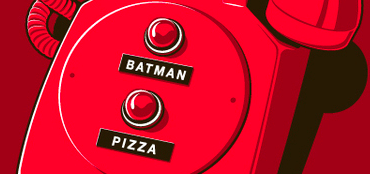 Your phone only needs two buttons: Batman & Pizza