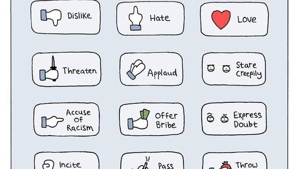 Dislike, Hate, Love, Creepy, Throw