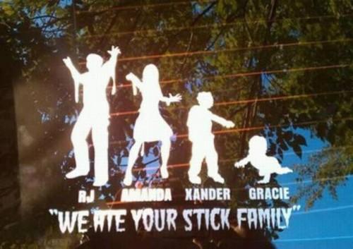 Zombie Family Stickers