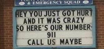 Hurt? Crazy? Call Us.