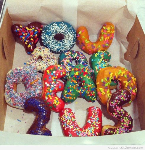 Donuts with Words