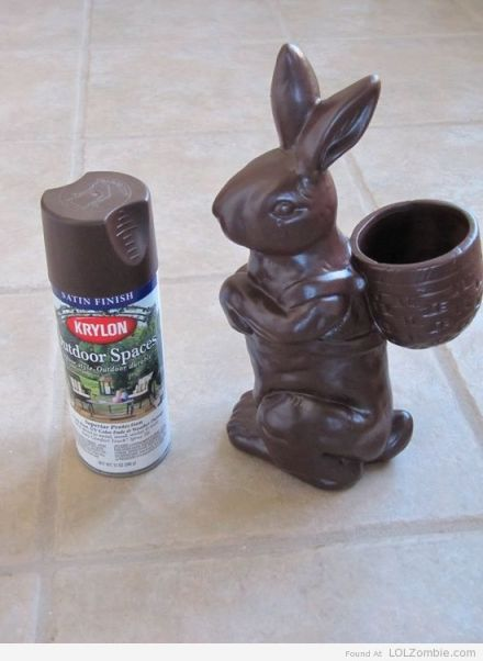 Spray Painted Easter Bunny