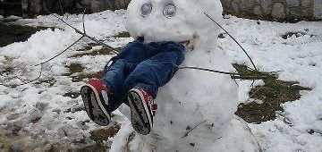 Snowman Eating Kid