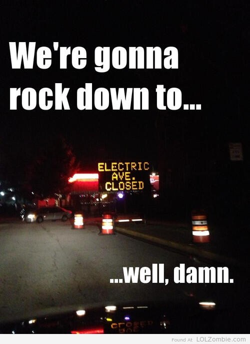 Electric Avenue Closed