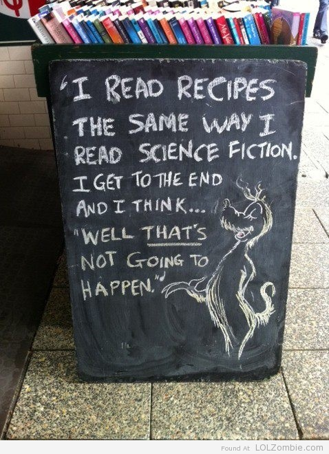 science fiction recipes
