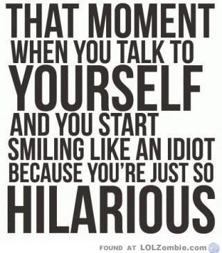 hilarious idiot smile