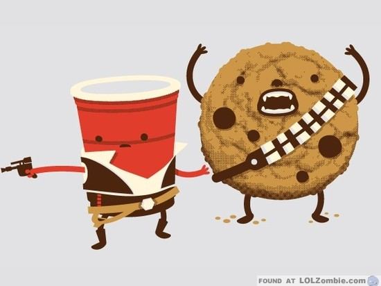 solo cup and chewie cookie