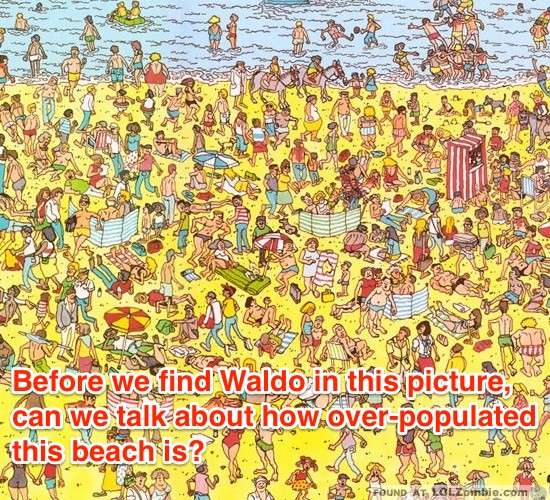 Where's Waldo on the Beach