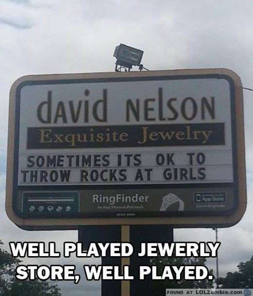 Throw Rocks at Girls Jewelry