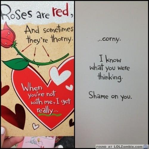 Corny Valentines Card