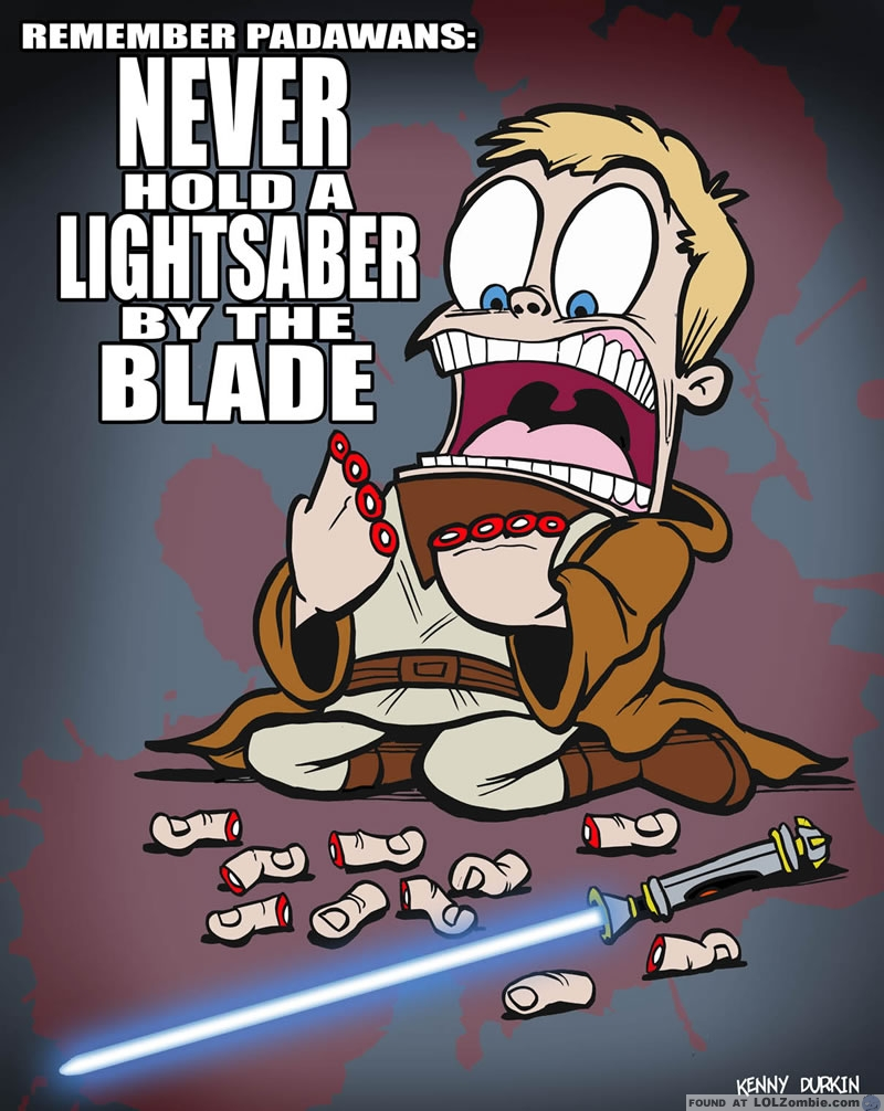 lightsaber accident