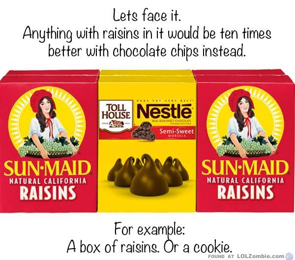 raisin chocolate chips