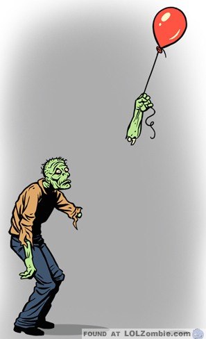 Zombie with Balloon