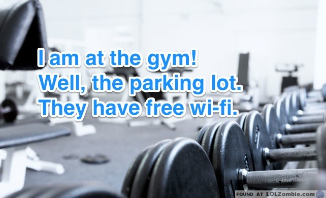 At the Gym!