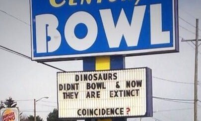 Dinosaurs Don't Bowl