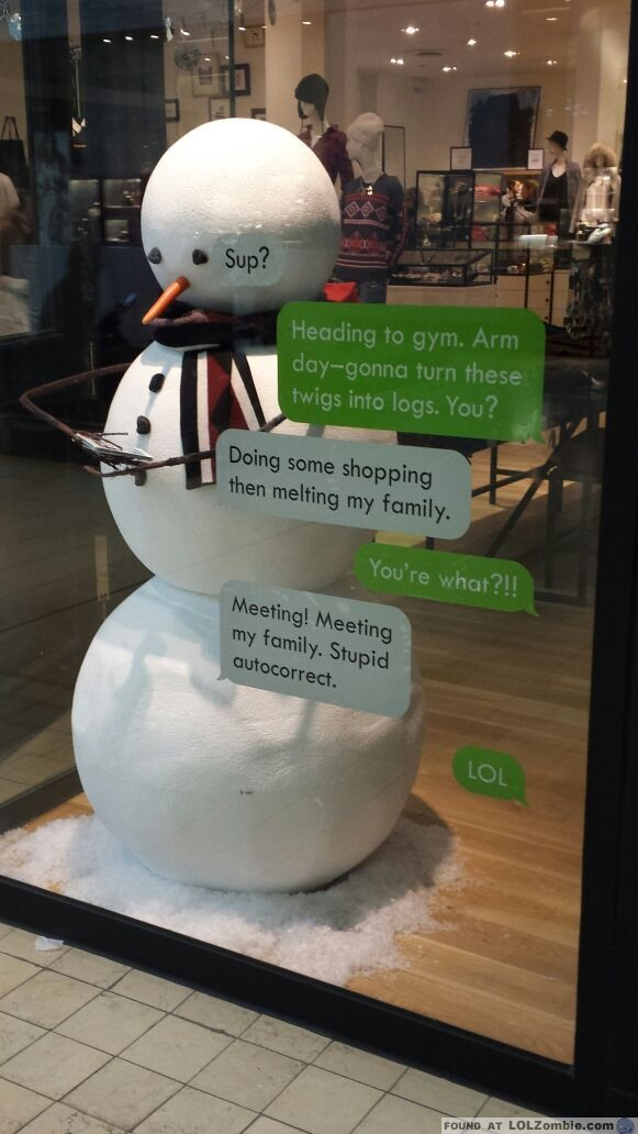 snowman texting