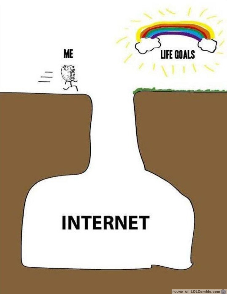 Goals are on the other side of the internet.