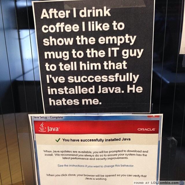 Installed Java