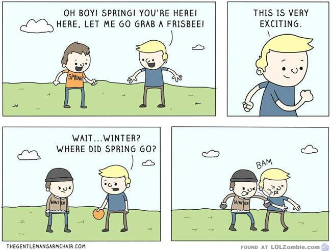 winter vs spring weather