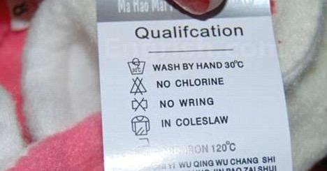 confusing washing instructions