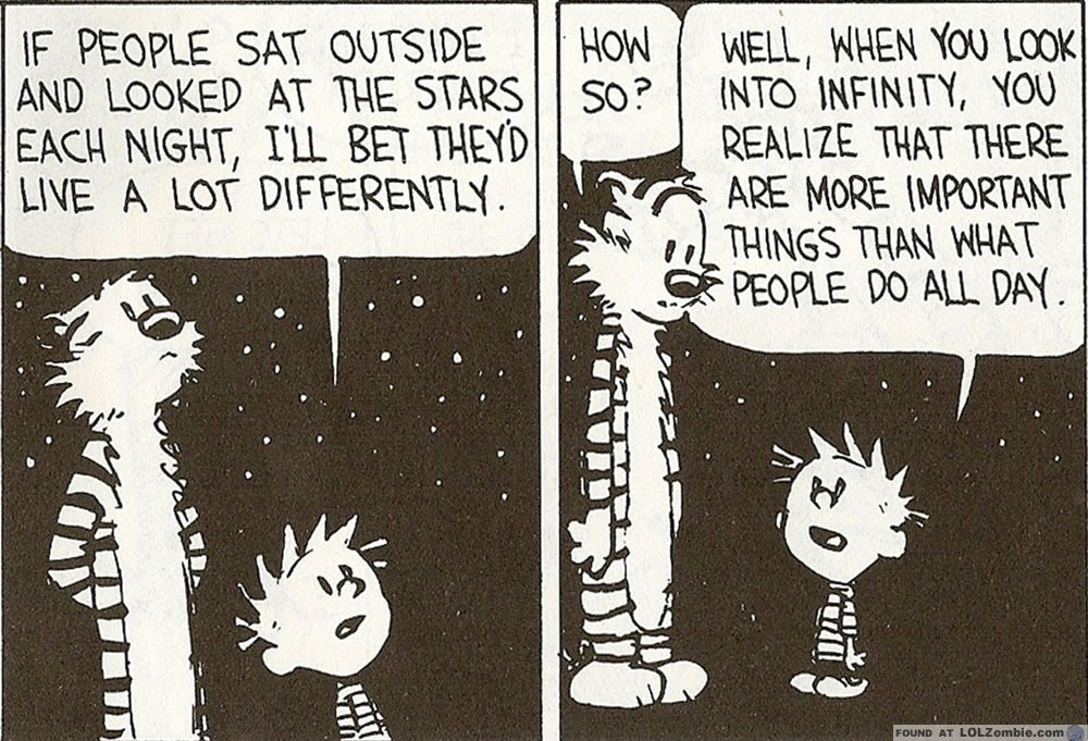 Calvin & Hobbes, Important things.
