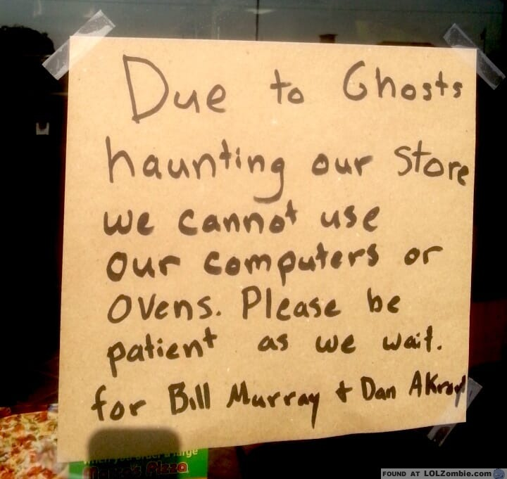 Ghosts in Store