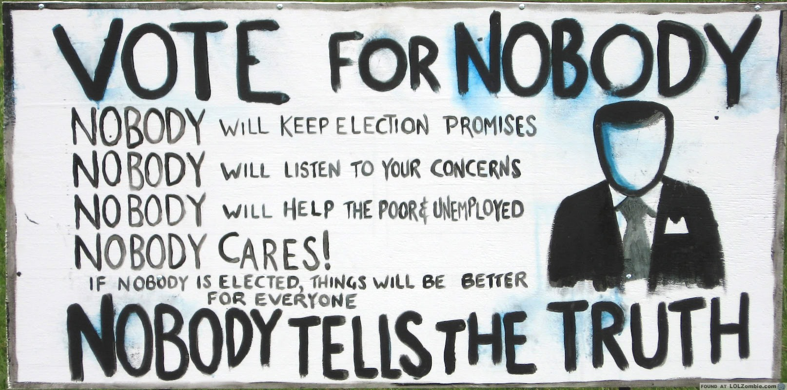 Image result for vote for nobody