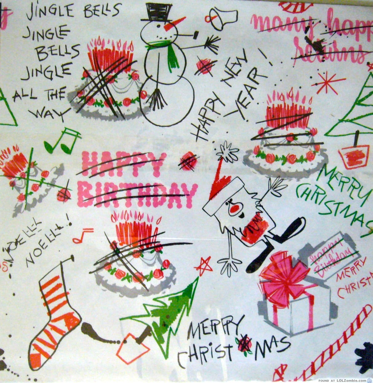 Girlzombieauthors Happy Birthday Free Zombie Story: How To Reuse Birthday Wrapping Paper At Christmas