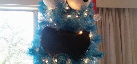 cookie monster Christmas tree