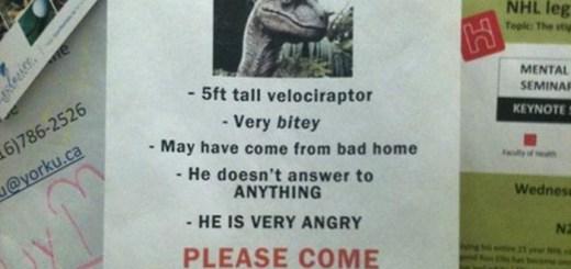 Velociraptor Sign