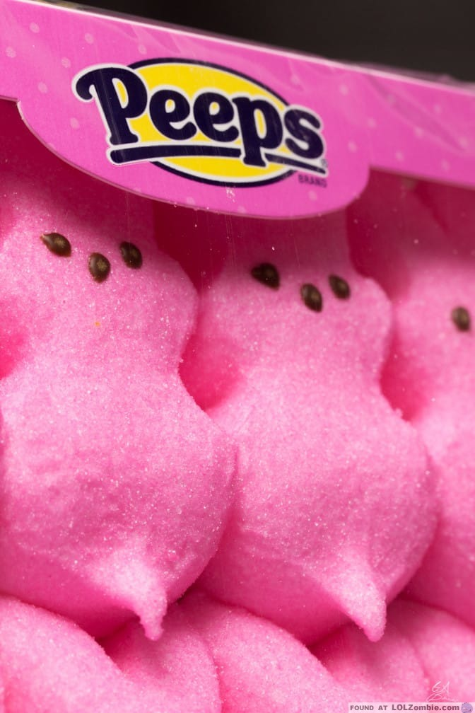 Peeps candy with male parts