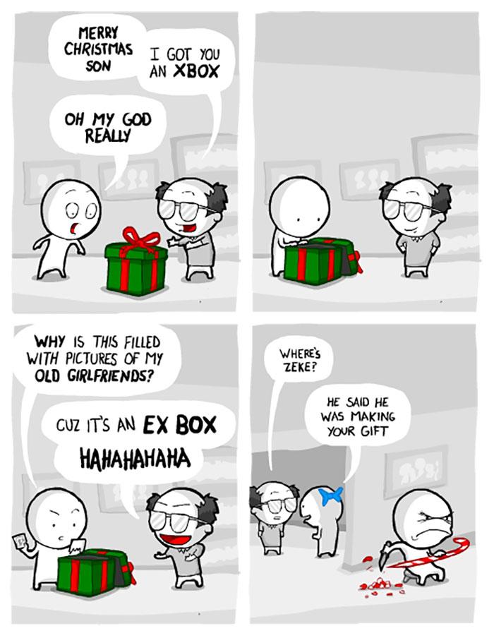 Cartoon XBOX gift.