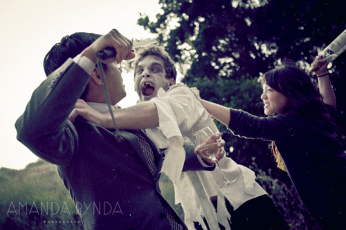 I kill zombies with love.