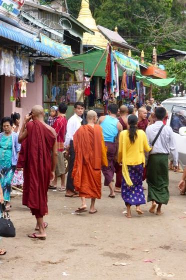 the monks organizing the traffic