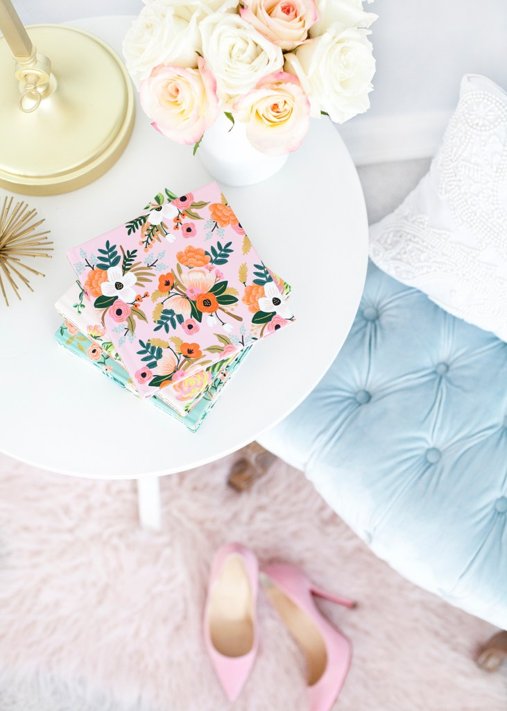 Rifle Paper Co for Chatbooks' floral prints featured by top US life and style blog, Lombard & Fifth: image of a Chatbooks photo album