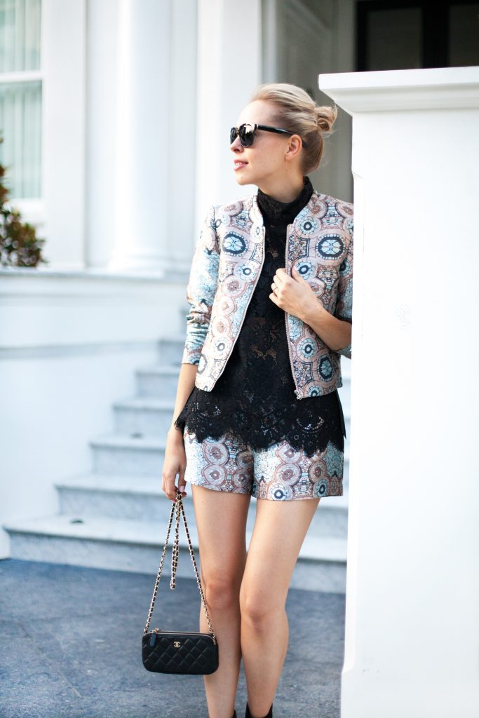 ifchic top printed suit