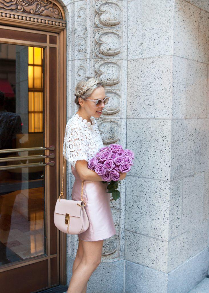 Reina Hortese pink skirt
