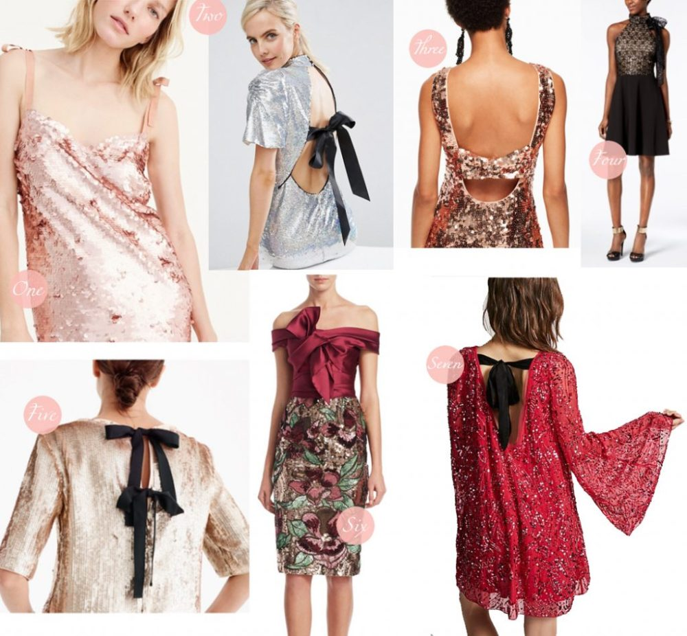 holiday dress guide sequin bow details