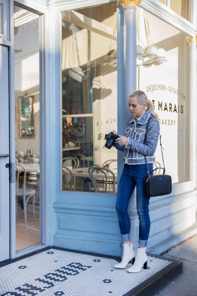 luxemono monogrammed camera bag Le Marais Bakery San Francisco