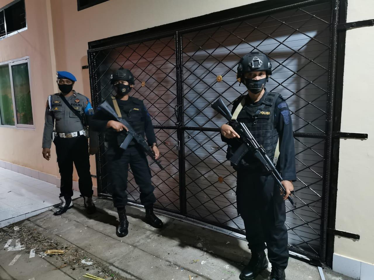 KPUD Kota Mataram Dijaga Ketat Aparat Kepolisian