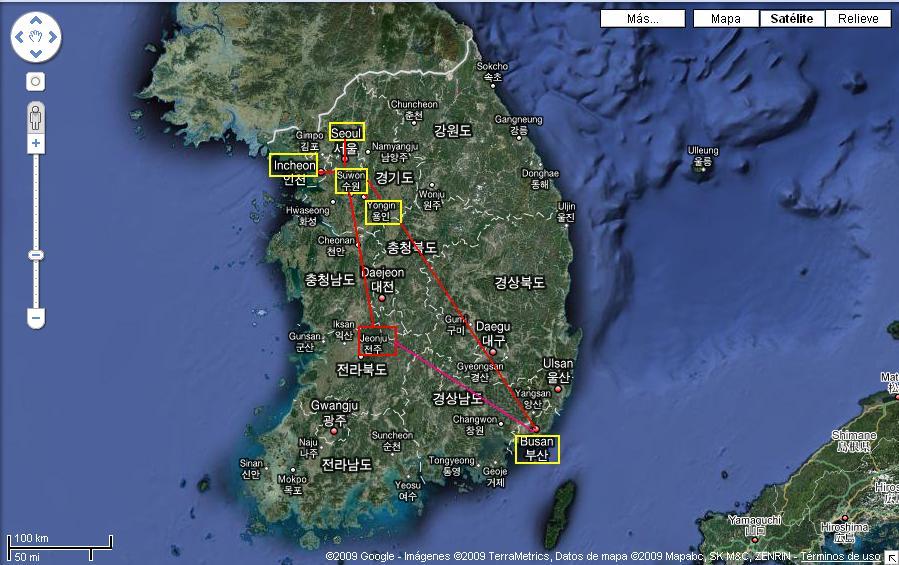 Itinerario Corea del Sur