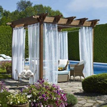 modern pergolas with curtain  httplometscom