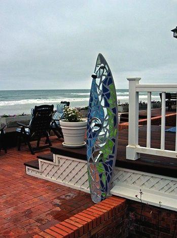 mosaic surf board shower  httplometscom