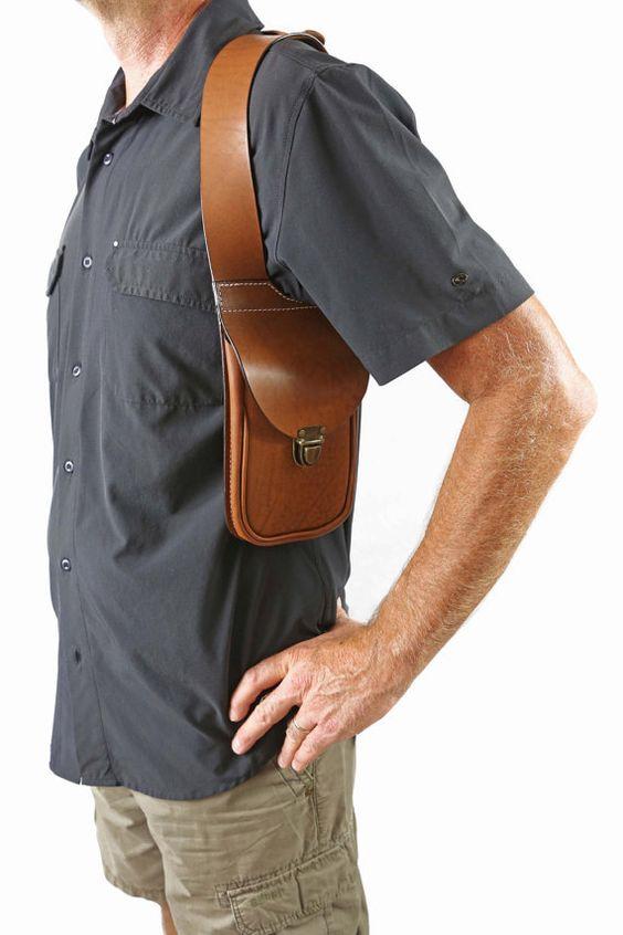 Leather shoulder holster bag  httplometscom