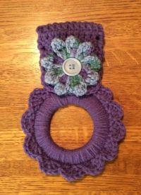 crochet towel holder   http://lomets.com