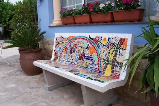 mosaic bench  httplometscom
