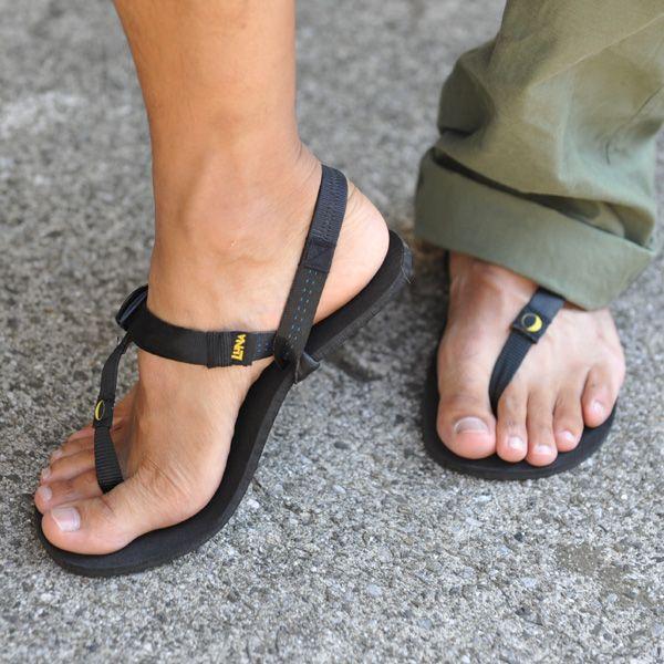 leather men barefoot sandals  httplometscom